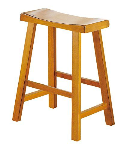 Homelegance 5302A-24 Saddleback 24-Inch Height Barstool, Oak, Set of 2 Homelegance http://www.amazon.com/dp/B003UCH31E/ref=cm_sw_r_pi_dp_9W49vb0Z5GZQ6