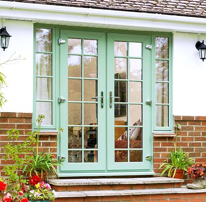Full view of everest upvc french doors in a chartwell for French window