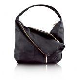 NEW Lupo Metropolis Black Leather Hobo Bag 1100232