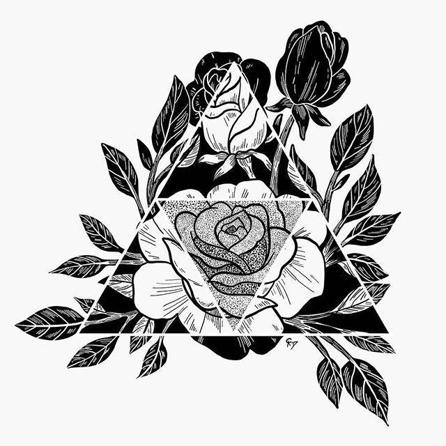 черно белые картинки для распечатки роза противном случае