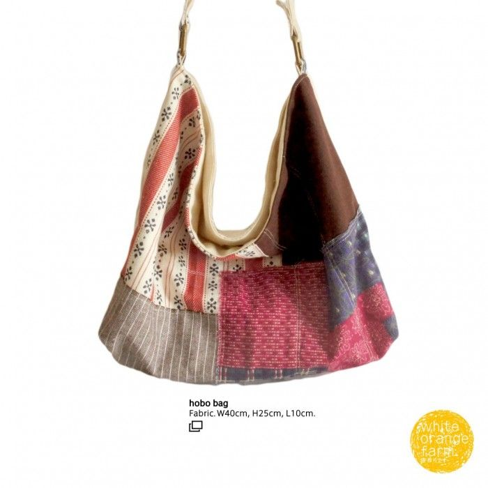 Vintage w/Dark Brown /R #whiteorangefarm #mosseash #handmade #handmadebag #cotton #canvas #linen