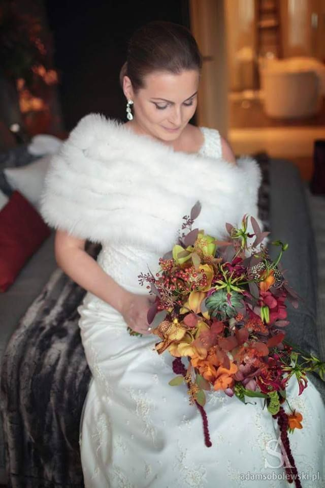 Fall Wedding Bouquets, in Arlamow Hotel, Poland by artsize.pl