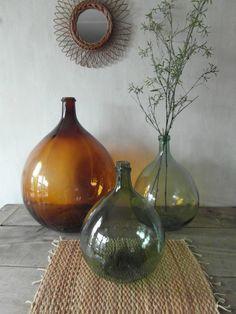 bottles.quenalbertini: Vintage demijohns