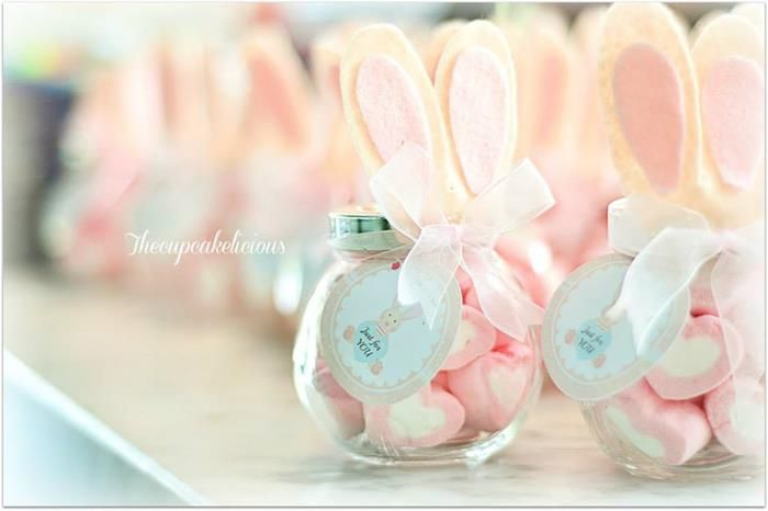 Shabby Chic Bunny Themed 1st Birthday Party with SUCH CUTE IDEAS via Kara's Party Ideas | KarasPartyIdeas.com #BunnyParty #PartyIdeas #Supplies (25)