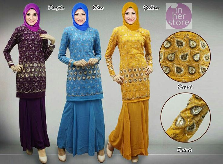 Baju Kurung by In Her Store Indonesia – Anjali Series Material : Chiffon Cerutti Size : XS - S – M – L – XL Retail Price : Rp 225rb/pc Reseler Price : Rp 200rb/pc (min.3pcs, mix size & colours allowed) PIN : 75BD8849 Line : inherstore