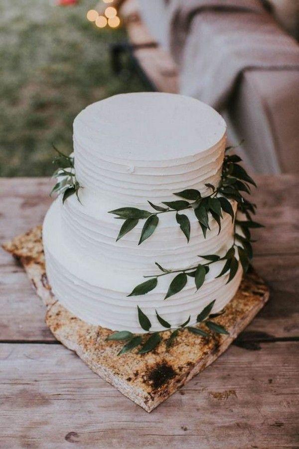 einfaches grün und weiße hochzeitstorte #obde # weddingideas2019   – Greenery Wedding