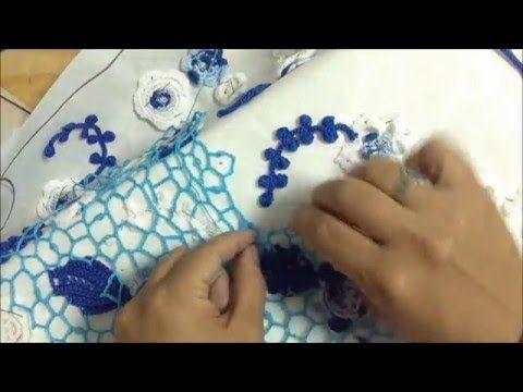Crochet irlandés: Paso a paso cómo realizar el soporte para tejer en esta hermosa técnica. - YouTube