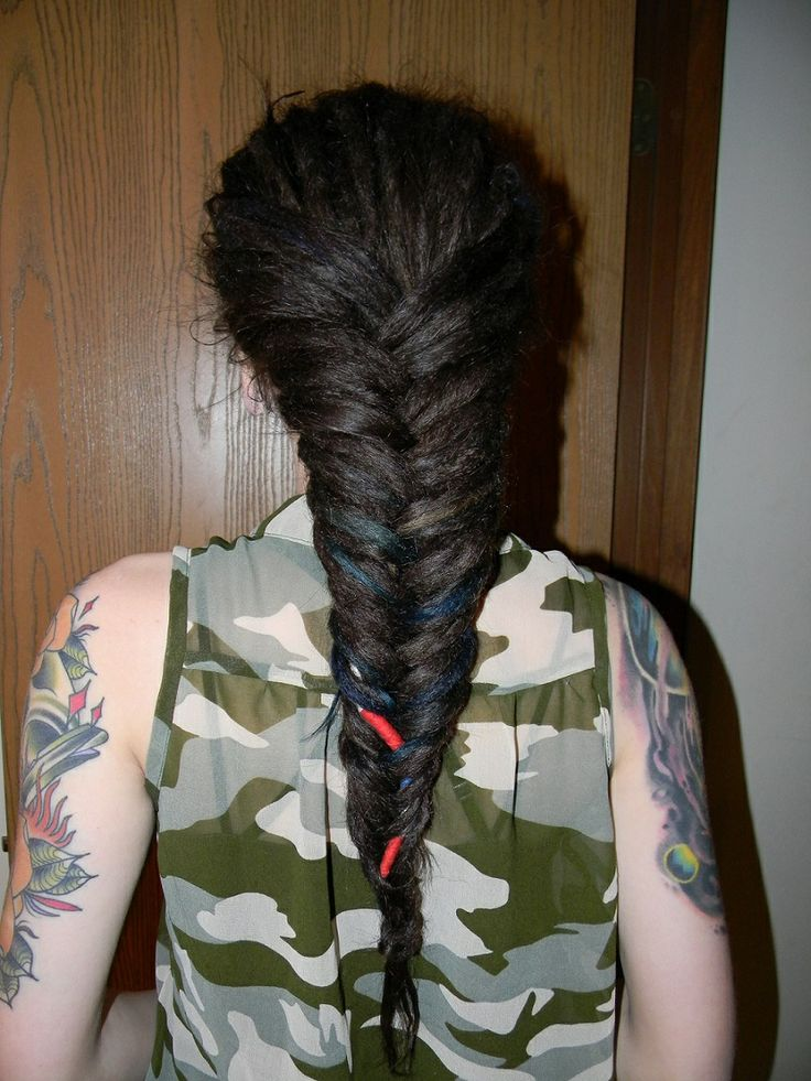 fishtail braid with dreads pin by robin bailey on dreadlocks pinterest