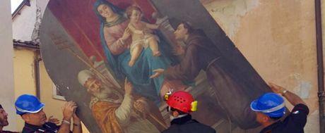 """""""Salviamo opere d'arte e tuteliamo i ricordi"""", missione dei Caschi blu Unesco ad Amatrice"""