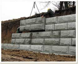large concrete retaining wall blocks | Why would I use a large pre-cast retaining wall block from Earth ...