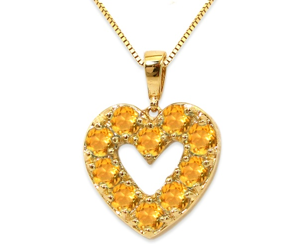 50 best citrine jewelry november birthstone images on pinterest citrine heart pendant mozeypictures Image collections