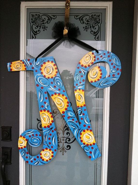 1000 Ideas About Letter Door Hangers On Pinterest
