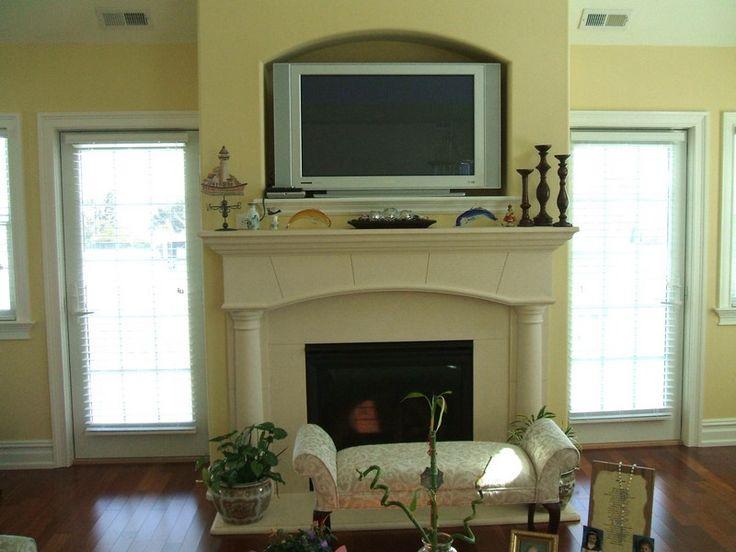 Tv Quotcubbyquot Above Fireplace Fireplaces Mantels Pinterest
