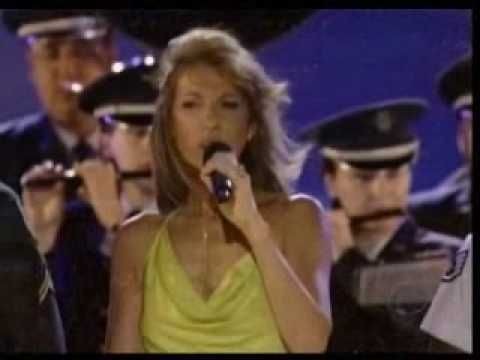 Celine Dion a French Canadian gives tribute to the US military forces. I really love her voice and style.