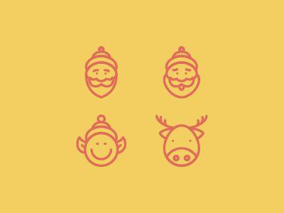 Christmas Icon Set by Norbert Kucsera