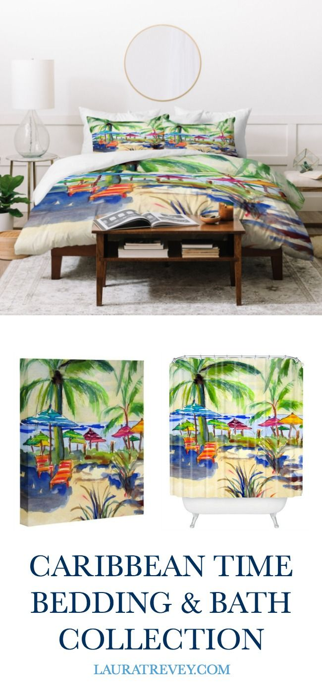 Coastal Living Inspired Caribbean Time Collection - Bedding and Bath