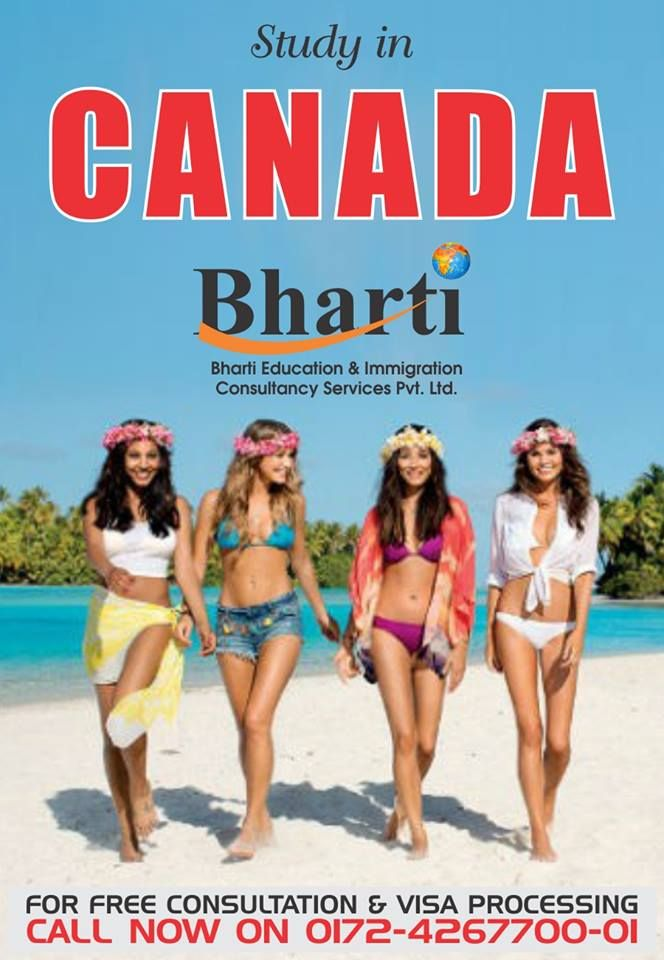 Want to study in Canada?  Contact Bharti immigration consultancy for free consultation & Visa Processing  Get more info @ http://bhartigroup.in/  #bharti #immigration #Bhartiimmigration #chandigarh #bestimmigrationConsultancy #studyvisa #study #visa #abroad #touristvisa #businessvisa #america #Australia #abroadvisa #newzeland #immigrationservices #studyabroad #visaservice #visaconsultant #number1 #company #best #mohali #US #UK #passport #india #cyprus #canada #USA