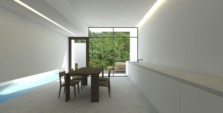 Simple interiors, minimalist clustered housing