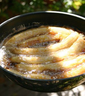 The LoveBite - back yard bananas foster -