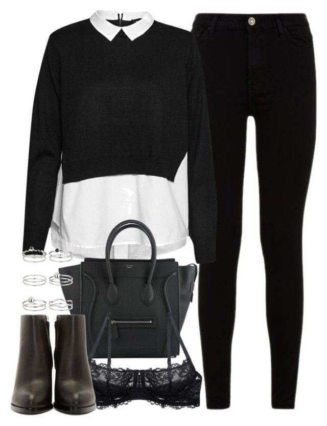 """""""outfit for an interview in the winter"""" by ferned on Polyvore featuring 7 For All Mankind, French Connection, Montelle, Alexander Wang and Miss Selfridge"""