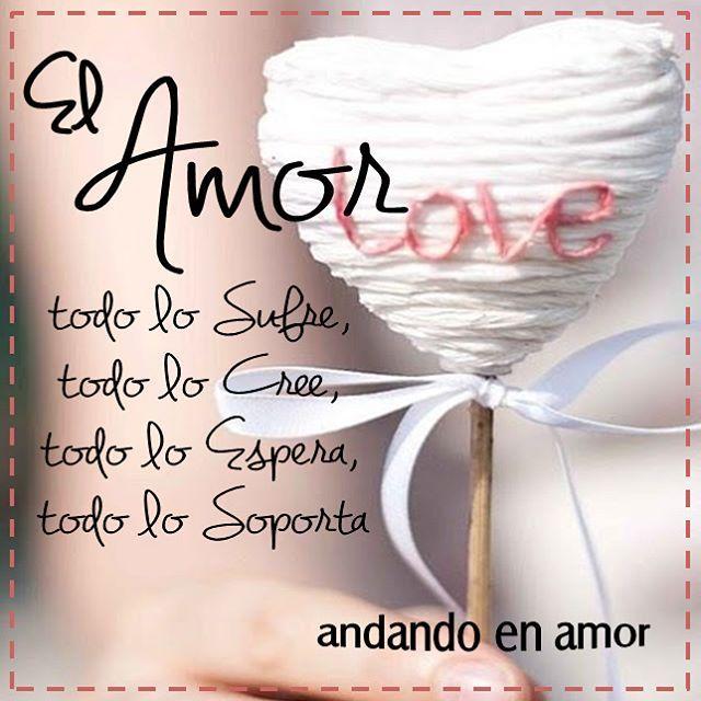 El amor, no como lo concibe un corazón humano, no es carnal, es algo más puro que sale del corazón y te hace un ser diferente