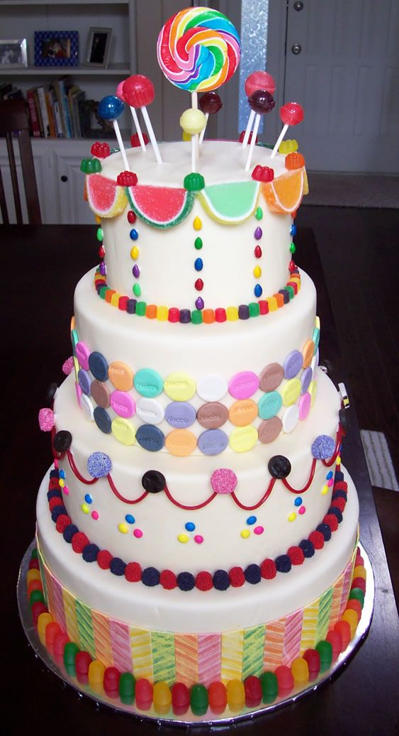 Candyland Cake Party Ideas Pinterest
