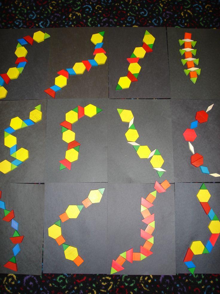 Rainforest @ lilteacher.com Math pattern snakes