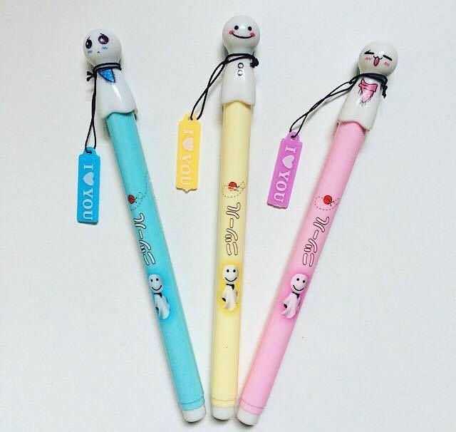 1 pcs Gel Pen Sunny Doll Kawaii Adorable Pen Planner Stationery Writing Fine Tip Office Business Pen