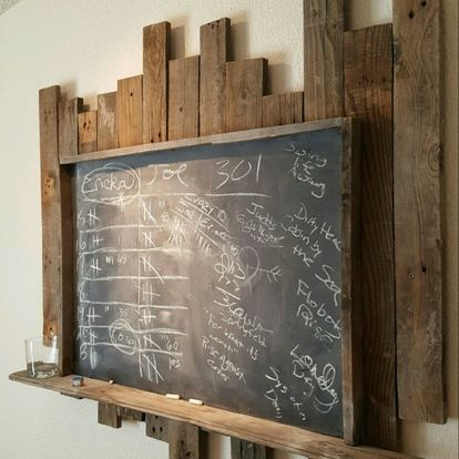 Rustic chalkboard is perfect for a game room, what ever the game. Adds a rustic look to the room.