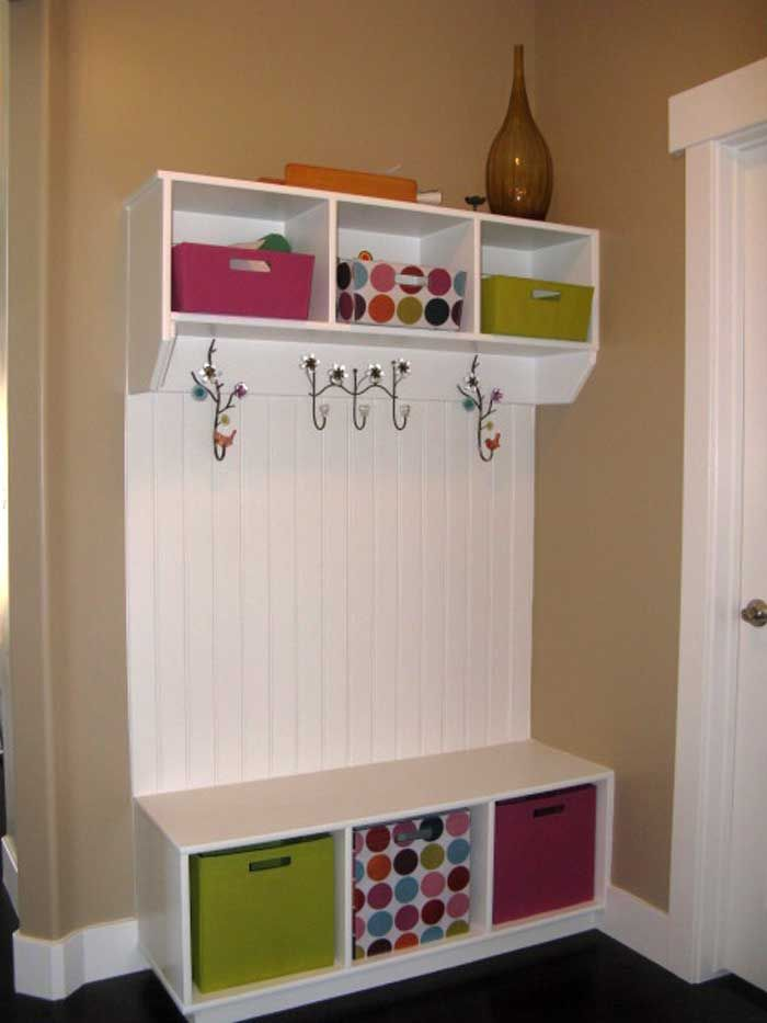 Mudroom Furniture | Laundry Rooms I'm seeing 3 individual pieces that could be put together cheaply to make a nice piece.