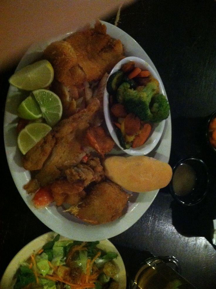 "The ""Solo"" Mariscos El Pescador. Laredo TX. First time I've eaten frog legs... Sorta taste like chicken."
