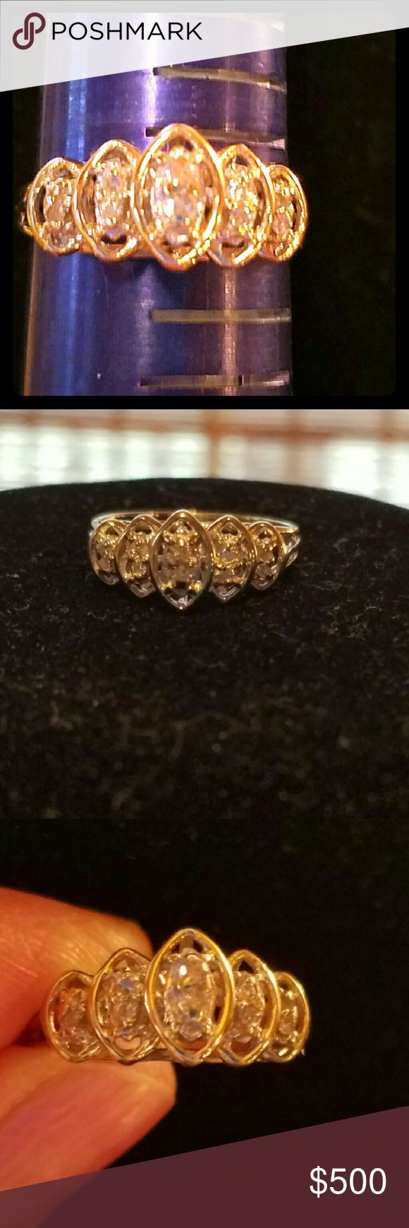 Brand 10kt Yellow Gold .25 Diamond Ring ****$$SALE $$******Excellent piece of jewelry and the pictures don't do it justice, reasonable offers accepted too. Jewelry Rings