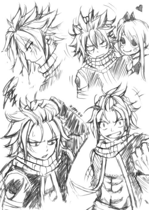 i wish natsu's hair could stay like this!!!xD but I love his regular hair too!