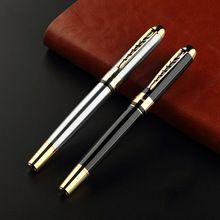 Luxury Jinhao 250 Executive Black Silver M Bib Fountain Pen Jinhao Fountain Pen Material Escolar Fountain Pen Mb Fountain Pen(China)