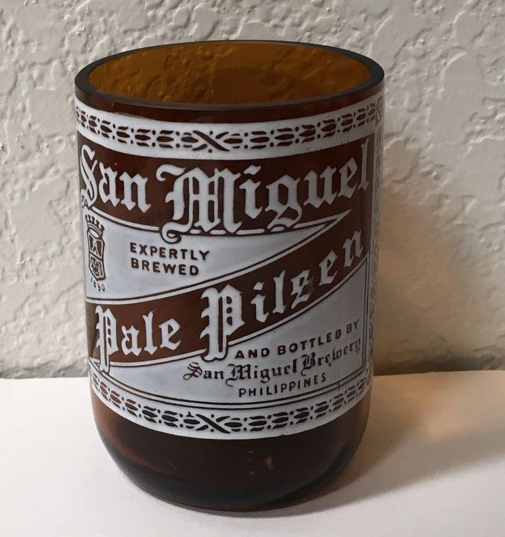 San Miguel Beer Glass Bottle Drinking Philippines Collectible Brewery Souvenir #SanMiguel