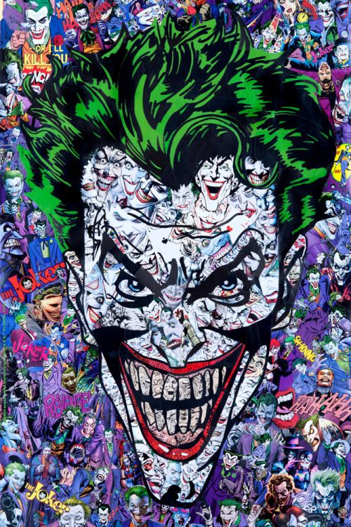"""""""The Joker by Mr. Garcin / Tumblr 24"""" X 36"""" giclee print, numbered edition of 150. Officially licensed limited edition print with certificate of Authenticity. Produced in conjunction with French Paper Art Club and Geek-Art, available..."""