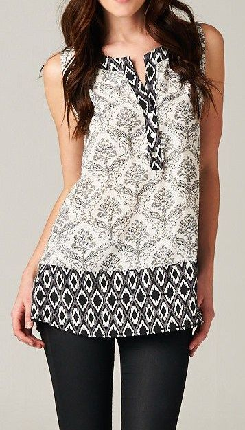 So pretty. I love Indian print tunics. I always get a whole load of them from India. The print on them is so ethnic, which is definitely a part of my style.