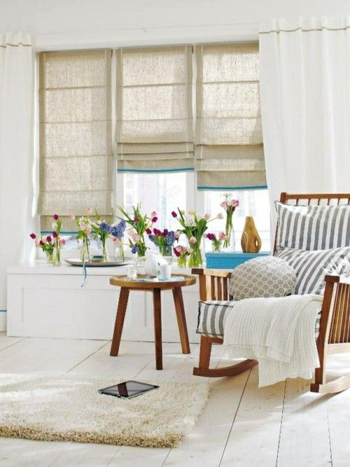 perfect! I want to make roman shades like this for the 1/2 bath!