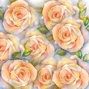 "Papel de Origami para Imprimir – ""Rosas"": Prints To, Rosas Aquareladas, Paper, Papers, Print"