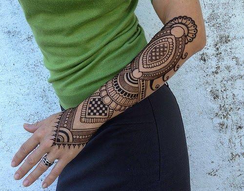 Henna Mehndi Sleeve : Henna tattoos ideas hand and arm for women tattoo