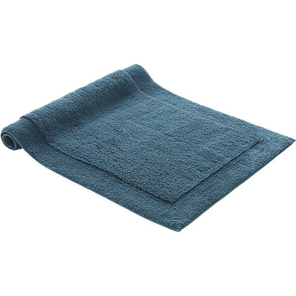 smith blue-green bath mat  | CB2