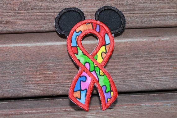 Disney Mickey Mouse Autism Awareness Puzzle by saltcitystitches, $4.00