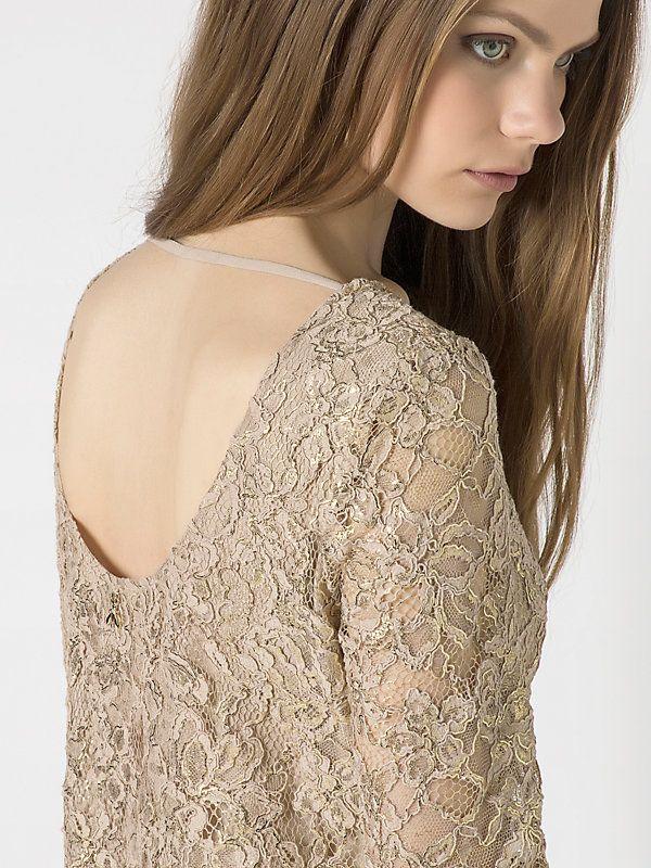 Short macrame lace dress B514 3