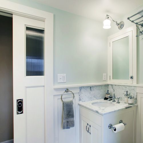 JAS Design Build :: Basement Remodels :: Statistically Accurate Love The  Pocket Door!