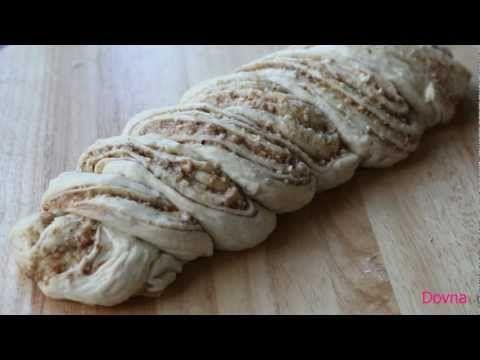плетенка из дрожжевого теста с орехами - YouTube