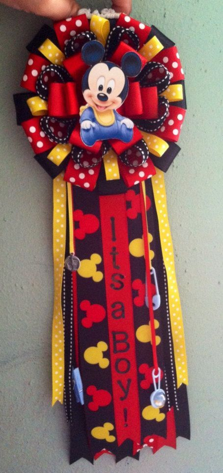 Mickey Mouse Corsage Ready To Ship With 24 Guest Pins