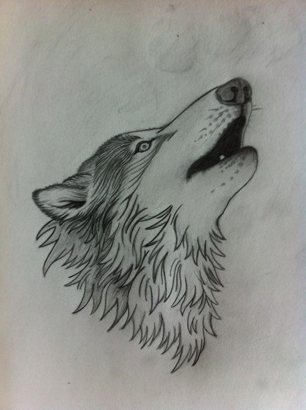 wolf om na te tekenen