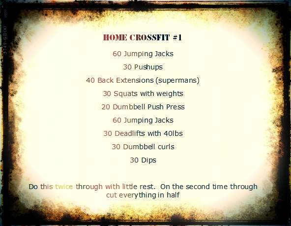 At home cross fit routine