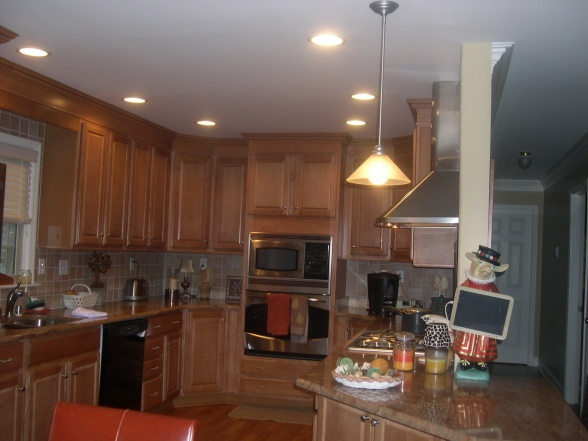 Bi Level Kitchen Makeover Kitchen Remodels Blue