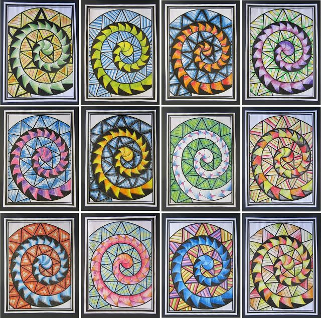 maori koru art for kids